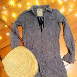 Maison Scotch/Scotch-Soda Gingham Shirtdress